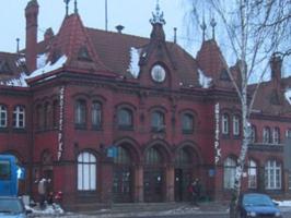 Zabytki przy noclegach - Dworzec PKP